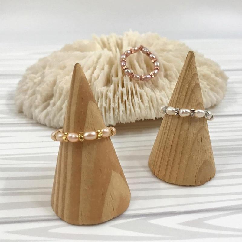 Момиджи ювелирные изделия пресноводный жемчуг брошь груша в готическом стиле с бусинами кольца для Для женщин очаровательный натуральный ...