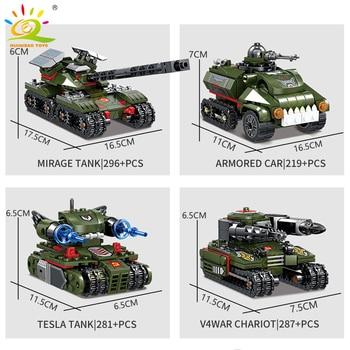 """Конструктор HUIQIBAO """"Военный танк"""", 1083 шт. 4 в 1 3"""