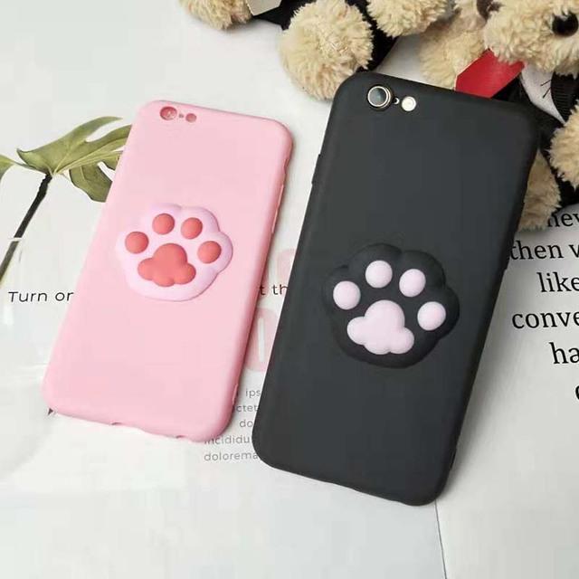 Cute Cartoon Cat Foot Case for iPhone