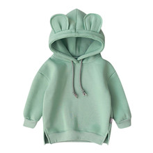 Hoodie Sweatshirt Toddler Baby Kids Boy Girl Cartoon 3d Ear Kids Hoodies Cute Baby Girl Sweatshirts Warm Sweatshirt For Boy L3 cheap With CN(Origin) Casual Cotton Polyester Fits true to size take your normal size Solid Regular Unisex Full