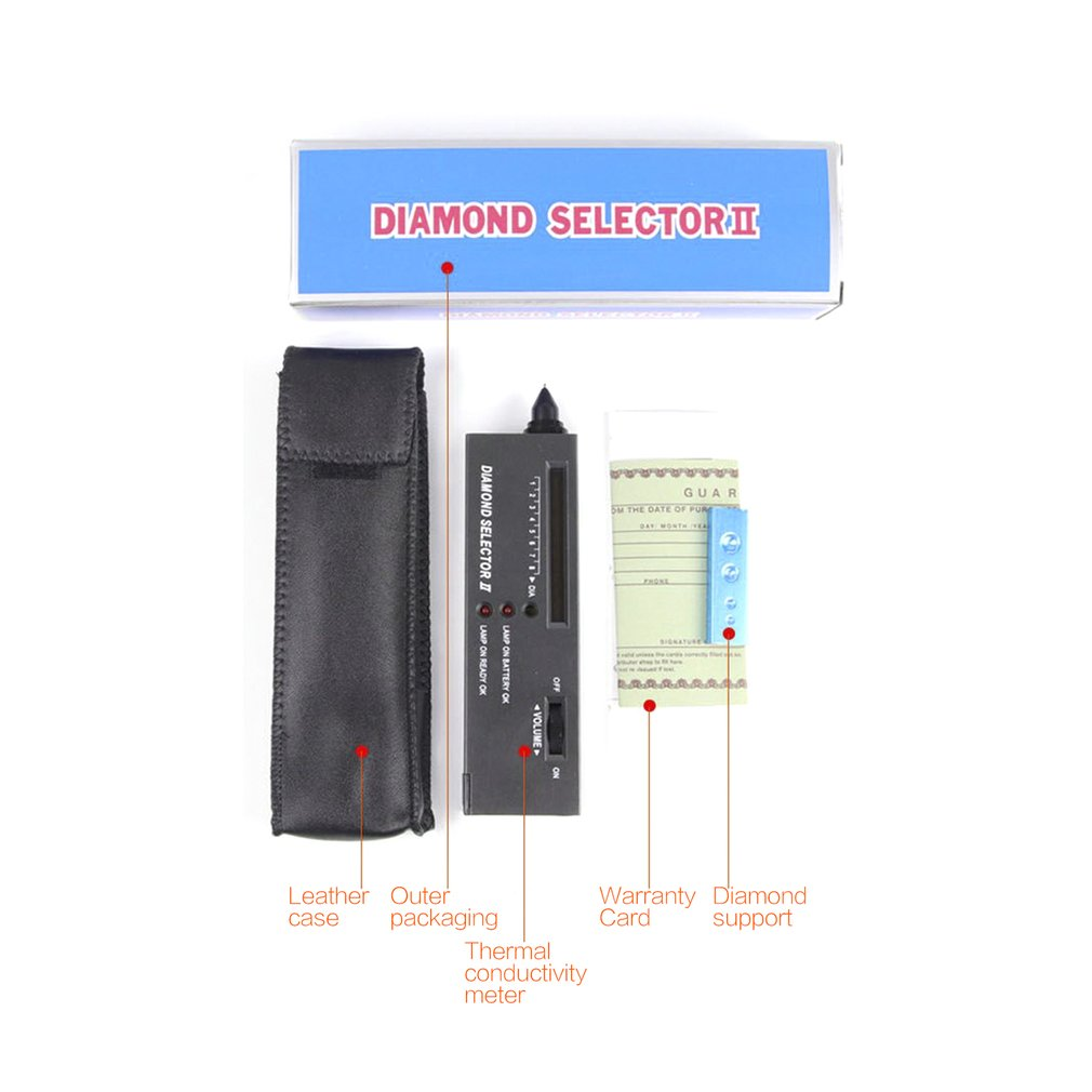 Crystal Tester Tool Thermal Conductivity Meter Drill Pen Hardness Identification Instrument Detection Diamond Authentic Jade Hot