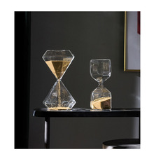 Nordic Time hourglass timer Creative  glass Craftwork home bedroom living room desk decoration accessories ornaments gifts