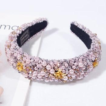 Rhinestone Sponge Velvet luxury Headband 4