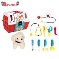 New 11Pcs Children Pretend Play Cosplay Pet Care Center Toy Pet Veterinarian Playset Character Pretend Play Doctor Pet Care Shop