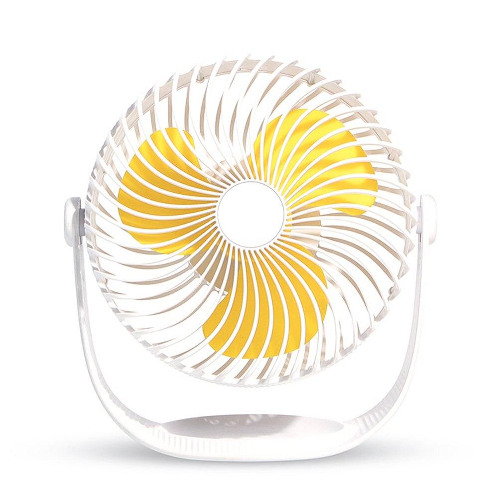 Air Conditioner Usb Charging Fan Seven-Inch Striped Desktop Mini Fan Mute Large Wind Portable Small Fan