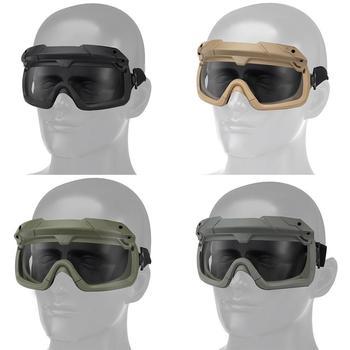 Okulary taktyczne wielowymiarowe podzielone taktyczne zewnętrzne gogle silnikowe tryby użytkowania iding wersja dwa okulary Retro kolor V9G6 tanie i dobre opinie Tactical Goggles TPE + ABS + PC