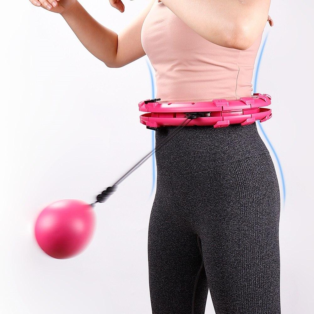 Умный спортивный обруч со съемным регулируемым автоматическим вращением, обруч для тонкой талии, для похудения, упражнений для мышц, рассла...