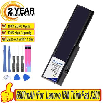 Top marka 100 nowa bateria do Lenovo ThinkPad X200 X200s X201 X201i X201s 42T4834 42T4835 43R9254 ASM 42T4537 FRU 42T4536 FRU tanie i dobre opinie HSABAT CN (pochodzenie) Li-ion for ThinkPad X200 6 Komórki 10 8V 11 1V