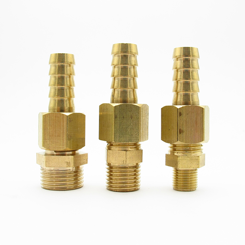 Brass Barbed Fitting Coupler Hose Connector Barb 3//8 BSP Male Thread