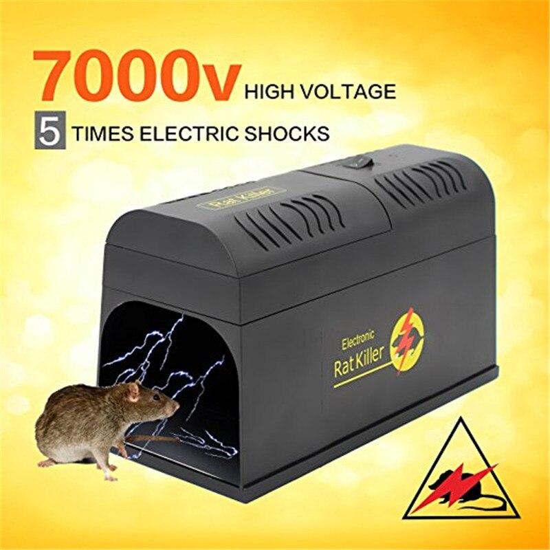 Reusable Electric Rat  Traps Trap Killer Mice Rodent Catching Catcher Hige Voltage Animal Pest Control Killing Trap
