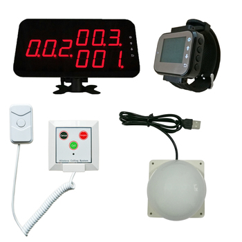 1 screen 1 nurse watch pager 13 corridor lights 26 patient call button with 120cm cable Wireless Hospital Call Alarm System