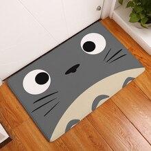 Cartoon Totoro Floor Entrance Doormat Flannel Plush Anti Slip Living Room Carpet Absorbent Kitchen Rug Home Decor Bath Mat