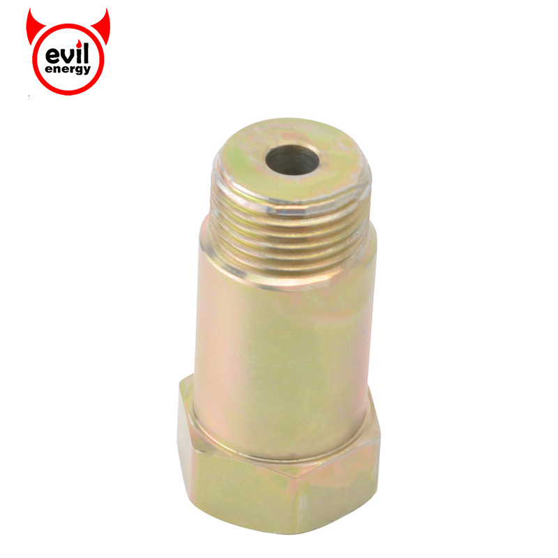 Evil Energy 02 Oxygen Sensor Adapter M18*1.5 O2 Iron Plating Zinc Sensor Spacer Adapter Extension Extender Universal Car Parts