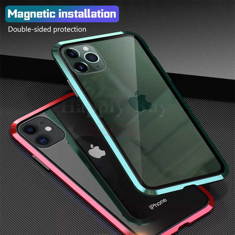 360 caso do telefone de corpo inteiro para o iphone 11 pro max caso capas 360 ímã casos para o iphone 11 pro max casos capa de metal bumber