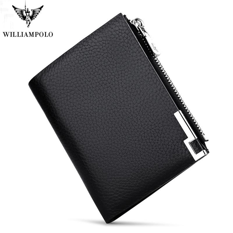 Mens Black Genuine Leather Credit Card Holder Wallet With Vertical Slots New