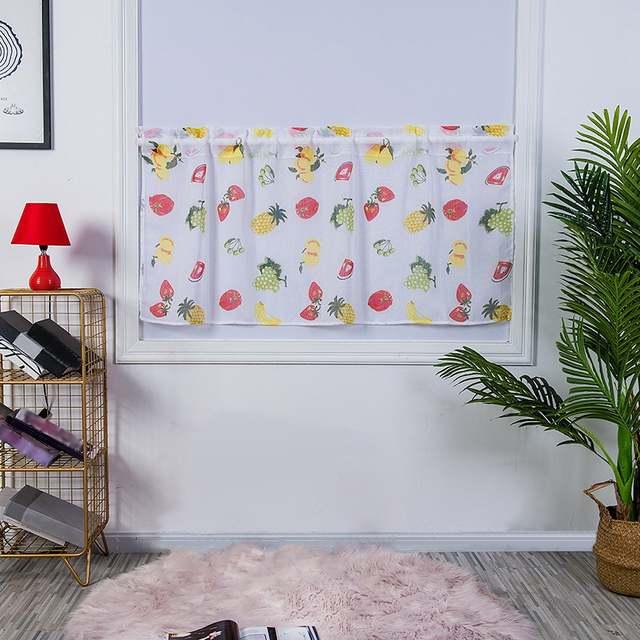 50x100cm Fruit Printed Kitchen Curtains