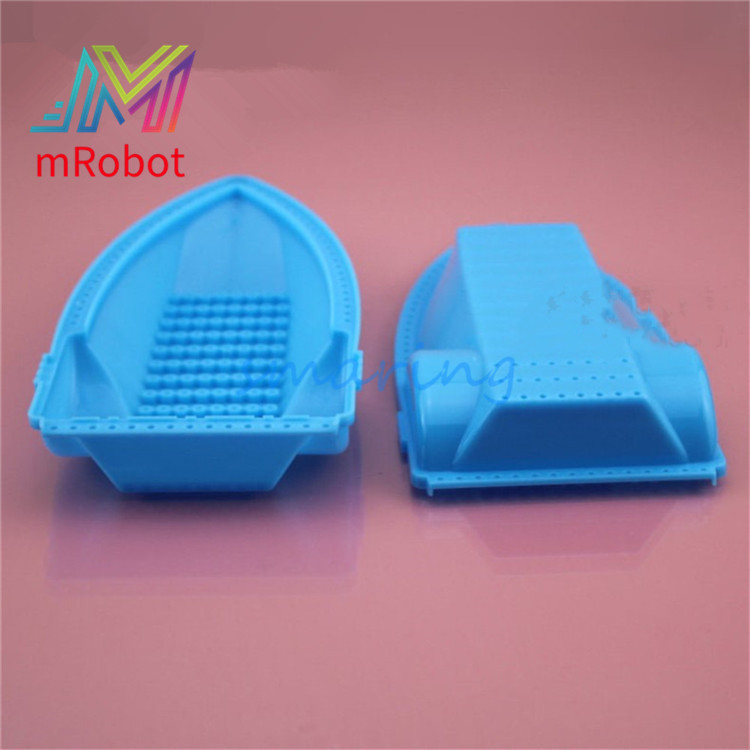 Blue Frog <font><b>Boat</b></font> Cover Ship's <font><b>Hull</b></font> Shallow Bottom Learning For Children Technology <font><b>Model</b></font> Parts Toy Accessories image