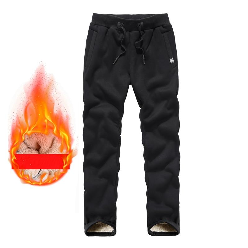 Mens Winter Warm Plush Pants Men Trousers Fashions Male Plush Size Pantalon Hombre Harem Pants  Drawstring Sweatpants L-8XL