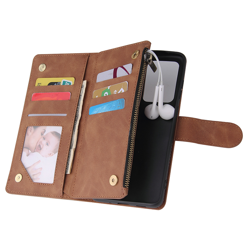 Zipper Leather Case For Samsung S20 Ultra Note 10 Plus 8 9 S10 S9 S8 Plus A70 A50 A40 A30 20 Flip Wallet Purse Cover Phone Cases