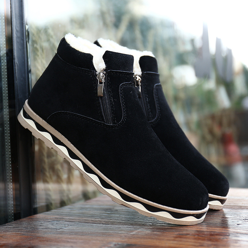 2019 New Men Snow Boots Warm Fur Winter Shoes Men Winter Boots Footwear Men Plus Size Ankle Boots Snow Shoes Men Winter