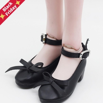 1Pair Fashion Shoes PU Leather Shoes For 16inch 60cm BJD SD Dolls For 7.8cm 1/3 Dolls image