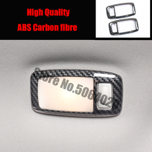 цена на ABS Plastic For Infiniti QX60 2014 2015 16 17 2018 accessories Car front reading Lampshade panel Cover Trim Sticker Car styling