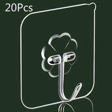 Get more info on the 20PCS Nano-Glue Strong Transparent Suction Cup Suction Cup Hook Kitchen Bathroom Hanger Hook 6 * 6cm Punch-free Seamless Hook