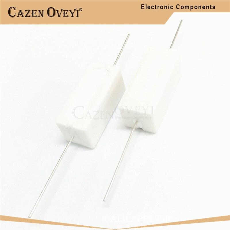 10 pçs/lote 5W resistência Cimento 0.1 ~ 5% k ohm 0.22 0.33 0.5 1 10 10 100 K K ohm 0.1R 10 1 0.22R 0.33R 0.5R 1R 10R 100R|Resistores|   -