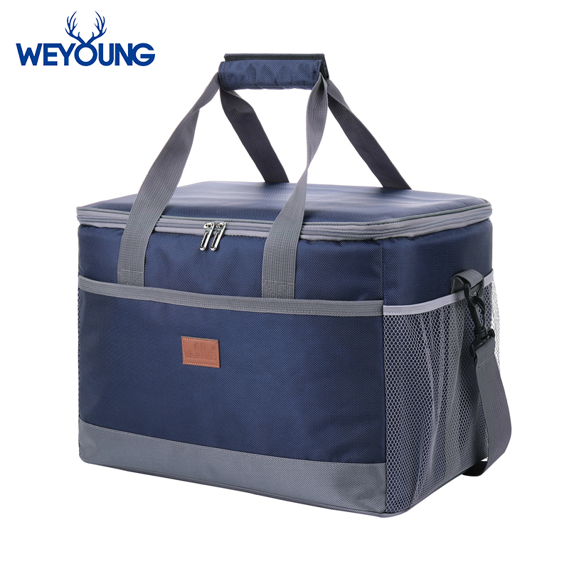 Leakproof Red Blue 33L Insulated Thermal Cooler Lunch bag for outdoor Picnic bag Car using Bolsa termica loncheras para mujerCooler Bags   -