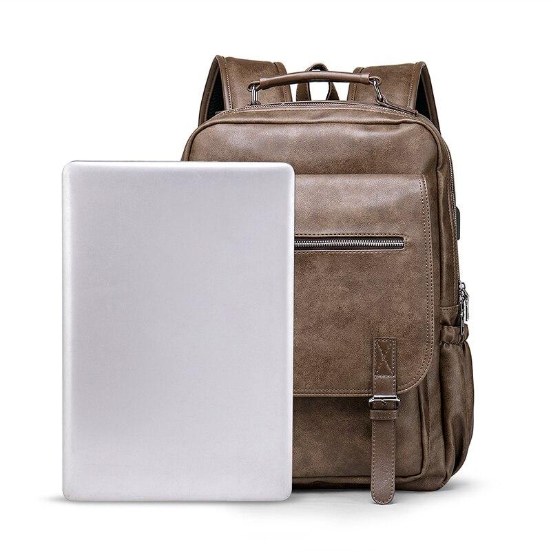 BOPAI, деловой мужской рюкзак, черный, с USB зарядкой, Противоугонный, рюкзак для ноутбука, 15,6 дюймов, мужской, большой емкости, школьные сумки дл... - 4