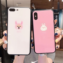 Sound Control LED Flash Phone Case For iPhone 6 S 7 8 Plus Luxury Calls Tempered Glass Cover X XS MAX XR