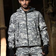 HAN WILD TAD тактические куртки, мужская куртка с мягкой ракушкой, армейский ветрозащитный Камуфляжный охотничий костюм, куртка и брюки в стиле м...