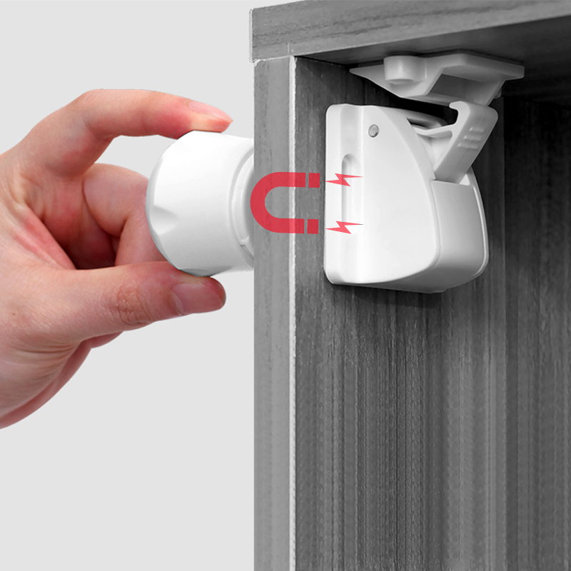 Magnetic Child Lock 2-8 Locks+1-2key Baby Safety Baby Protections Cabinet Door Lock Kids Drawer Locker Security Invisible Locks