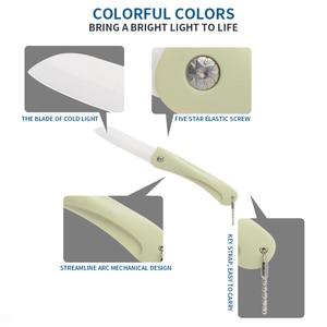 9 цветов, складной керамический нож, Подарочный нож, карманные керамические складные ножи, кухонный нож для овощей и фруктов с ручкой ABS