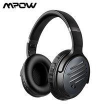 Mpow h16 anc 블루투스 헤드폰 액티브 소음 무선 헤드셋, 빠른 충전 30 h 재생 시간 깊은베이스, pc 폰용