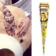 100% reine Natürliche Pestizid Freies Schwarz Henna Kegel Indische Paste Tattoo Körper Farbe Wasserdichte J7B0