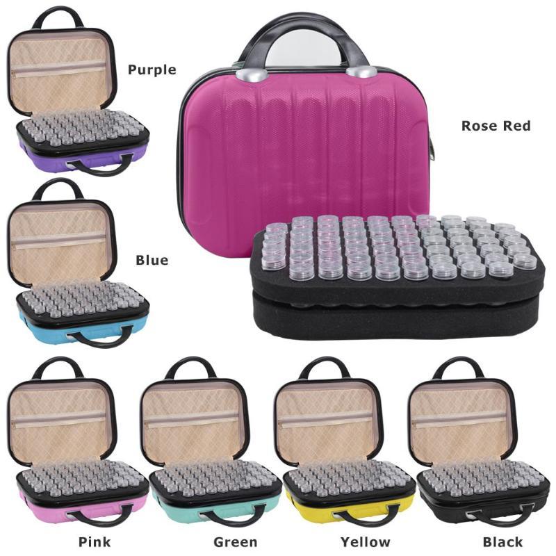 132 Bottles Diamond Painting Storage Box Bead Container Embroidery Handbag Diamond Bead Organizer Case
