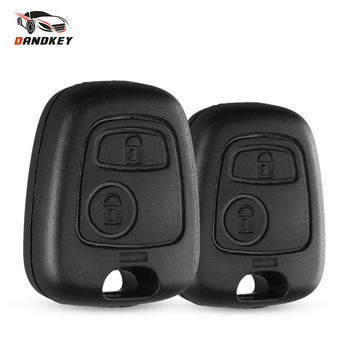 Dandkey Auto Car 2 Button For Peugeot Remote Control Key Fob Case Shell Toyota AYGO Accessories Citroen No blade logo - discount item  15% OFF Auto Replacement Parts