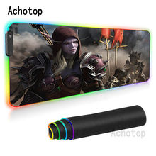 Mouse Pad 900x400 Large Gaming World Of WarcraftMat XLLComputer Mousepad Game Desk Play Pad for Csgo Cool keyboard backlight