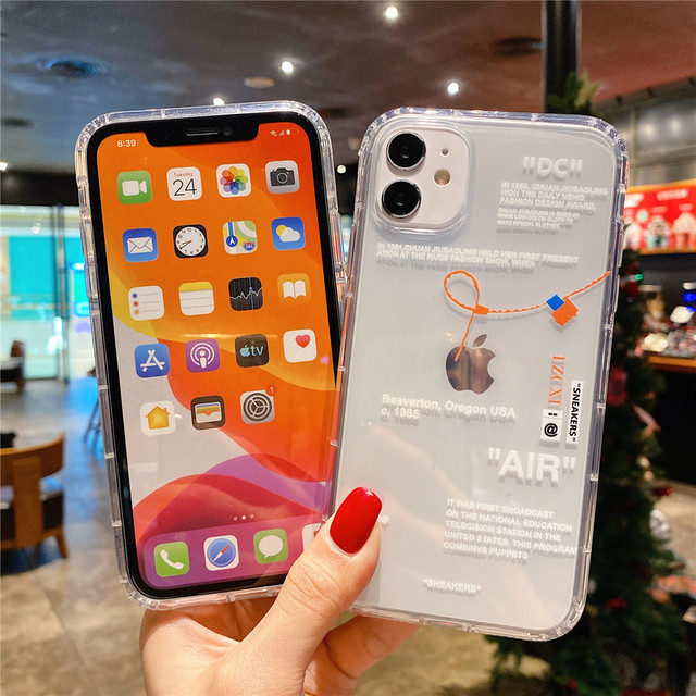 Hot Off Sports shoes brand phone case for iphone 12 mini 11 X XS Max XR 7 8 6 6s Plus SNEAKERS ins white label soft TPU Cover 6
