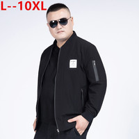 10XL 8XL Men Reversible Jacket with Stand up Collar Men's Baseball Jacket Bomber Jacket with Zip Male Fashion Streetwear Clothes