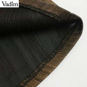 Image 5 - Vadim frauen solide grund midi kleid hülse mit drei vierteln weibliche casual wear stilvolle chic EINE linie kleider vestidos QD137