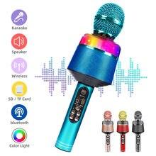 Microfone sem fio bluetooth handheld karaoke mic usb mini casa ktv para música professional alto-falante jogador cantando gravador mic