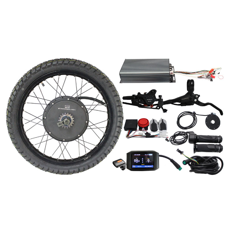 EU DUTY FREE EBike Conversion Kit Color screen 48/60/72V 3000-5000W Rear Brushless <font><b>Motor</b></font> Wheel 19