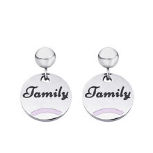 Simple Style Small Ball Big Circlle Earring for Women Fashion Stainless Steel Family Pendants Earrings Modern Jewelry Gift(China)