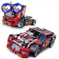 608pcs Race Truck Car 2 In 1 Transformable Model Building Block Sets Decool 3360 DIY Toys Compatible Legoinglys Technic 42041