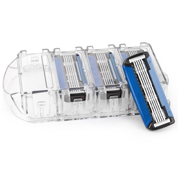 Qshave Black Spider Man Manual Shaving Razor USA Blade X5 Blade it with Trimmer Back Blade, 4 & 8 & 16 Cartridges Choice