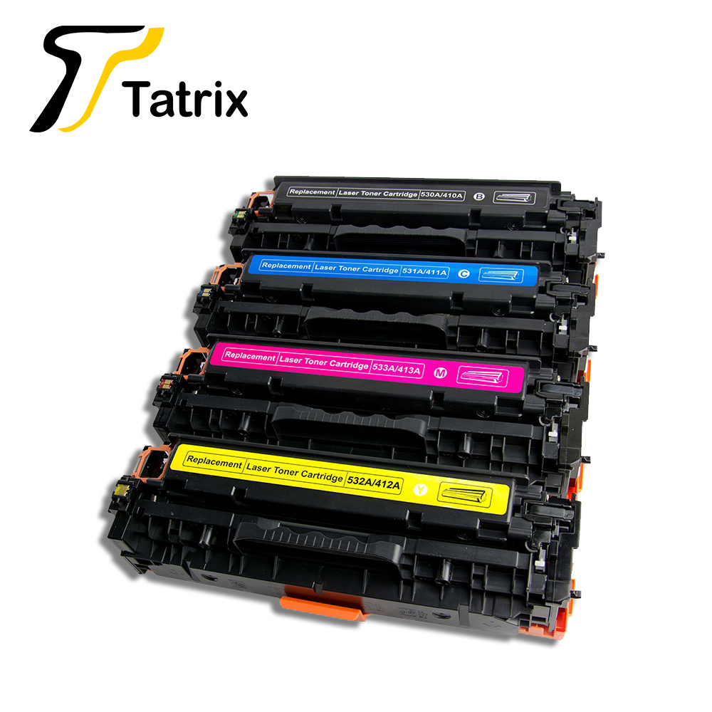Tatrix Premium Compatible Laser Color Toner Cartridge 304A <font><b>305A</b></font> for <font><b>HP</b></font> Printer CP2025 M451nw image