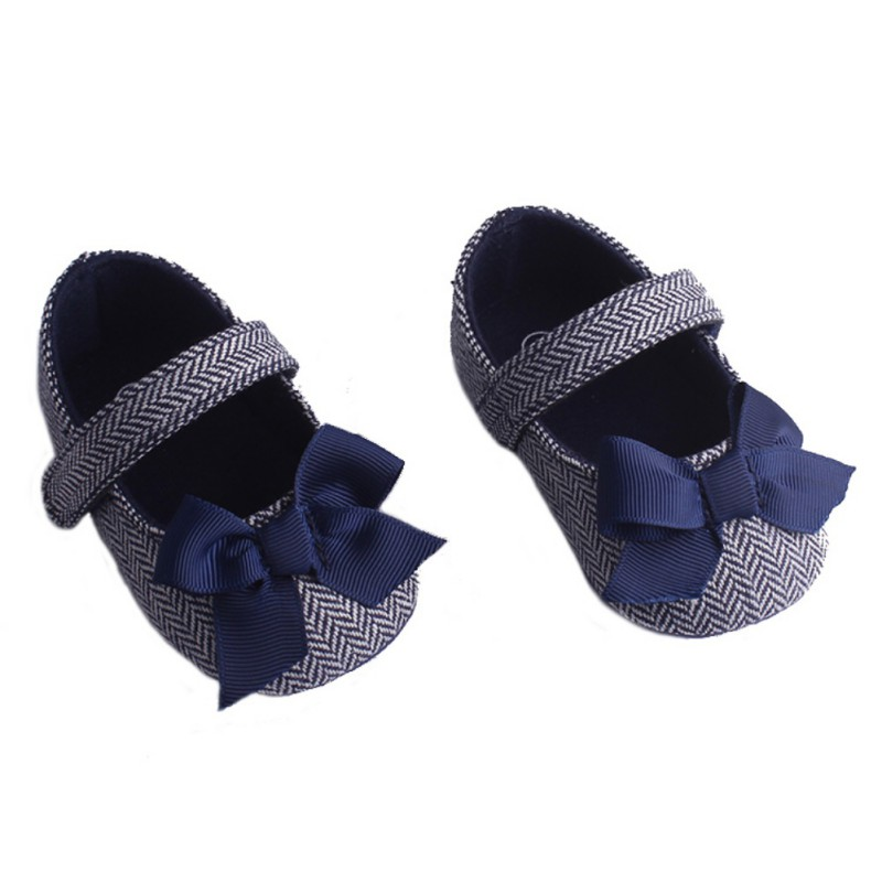Baby's First Walkers Shoes Sweet Bowknot Retro Baby Toddler Shoes Non-slip Soft Prewalker Baby Shoes For Girl