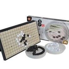 Jeu d'échecs Gomoku magnétique Portable, jeu avec une pierre magnétique convexe unique en plastique